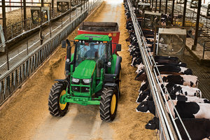 Deere's 6M Series tractors are well-suited for a number of chores around the farm.
