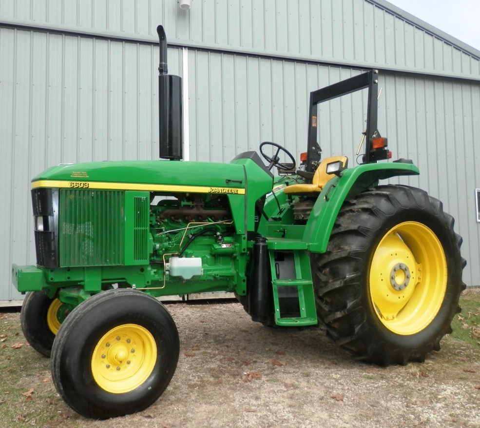 Sold for $23,000 on April 23, 2015 farm auction in eastern Wisconsin. On  this sale was a John Deere 6603 2WD tractor ...