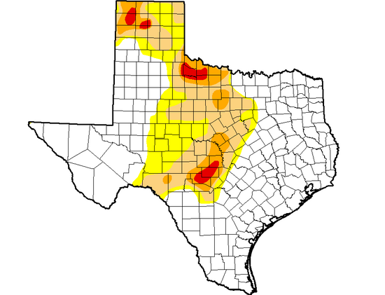 Recent heavy rains in Texas have eliminated all instances of exceptional drought in the state for the first time in three years.