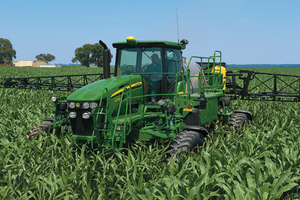 2016 John Deere 4730 Sprayer models are expected to be the first to have a carbon fiber boom option.