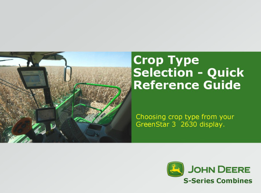 Crop Type Selection