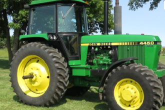 1988 John Deere 4450 with 1,136 hours sold for $77,500 on August 27, 2015 auction in southeast South Dakota