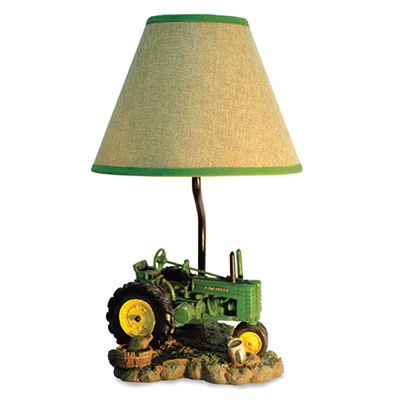 Inspirational As you shop for holiday gifts for the home this lamp should be at the top of your list for John Deere fans It has a tractor scene base and an eye catching