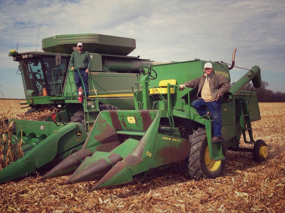 New & Old John Deere Combines