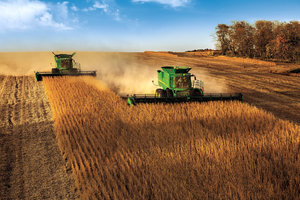 Technologies to be highlighted at Agritechnica 2015 include the John Deere Active Yield, John Deere Integrated Combine Adjustment2, and John Deere Active Fill Control Sync.