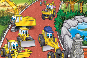 Several of the Johnny Tractor and Friends characters in this image will appear in the latest interactive storybook.
