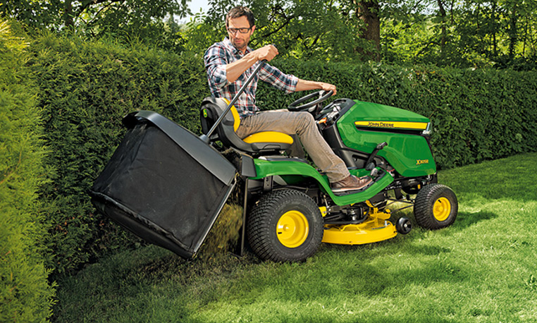 John Deere X300 attachments