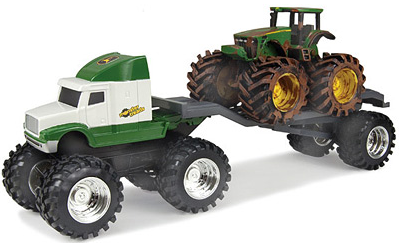 John Deere Monster Treads Semi with Tractor