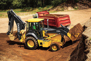 The John Deere 710L is now the most powerful L-Series backhoe loader model available.