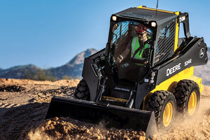 Increased visibility on the John Deere 324E will make it easy for operators to be fully aware of their surroundings while working.