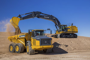 The John Deere 670G LC is widely used for earthmoving projects and now includes more comfort and emissions features.