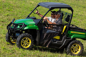 The John Deere XUV560 is the latest addition to the company's crossover utility vehicle lineup.