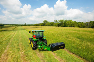 A hay mowing demonstration will take place on the more than 80 acres of land set aside for equipment during this year's expo.
