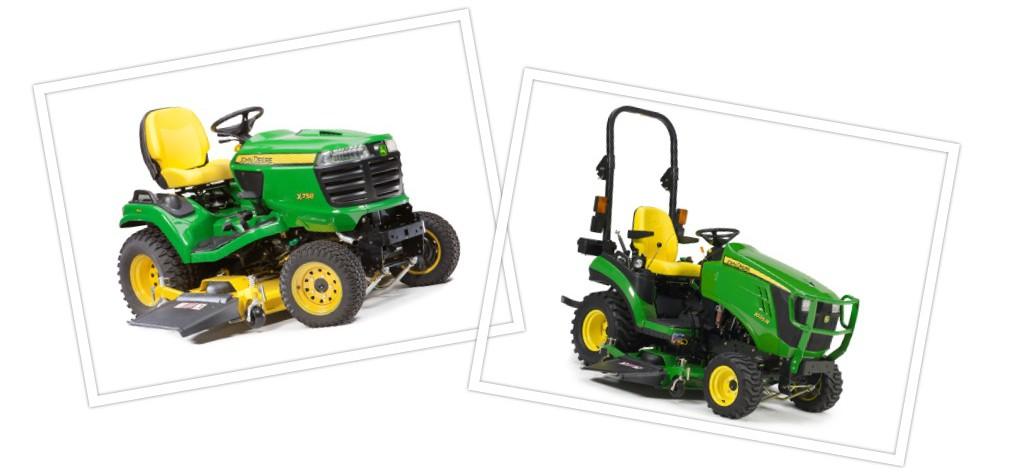 John Deere X758 vs  1025R Tractor Comparison