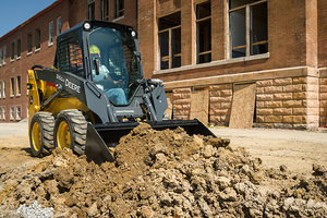 The new grading-heel bucket can be added to John Deere G-Series skid steers and CTLs to help operators perform final grading applications.