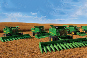 Combine demonstrations will occur daily during Husker Harvest Days 2016.