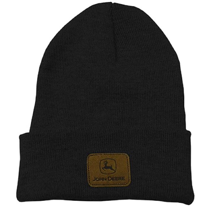 John Deere Womens Winter Trapper Hat with Patch Black