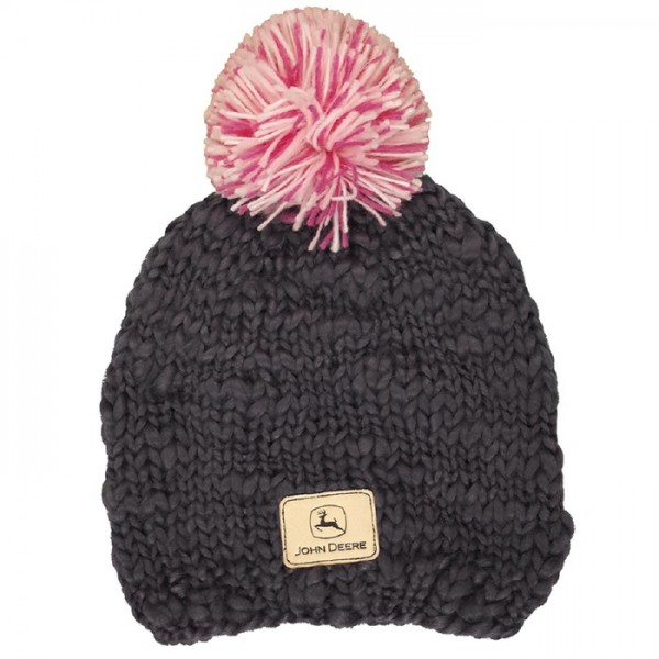 ladies-charcoal-beanie-with-pom-pom