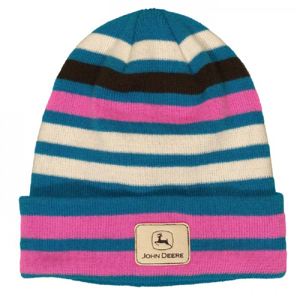 ladies-multi-stripe-cuffed-beanie