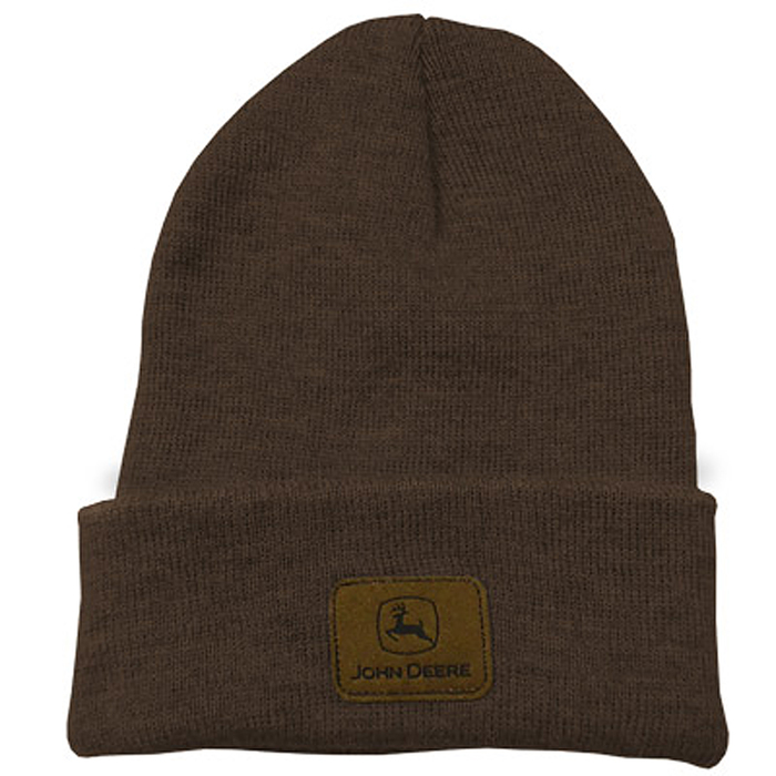 mens-brown-beanie-with-sueded-john-deere-logo-patch