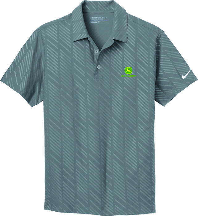 Mens Gray Dri-FIT Polo