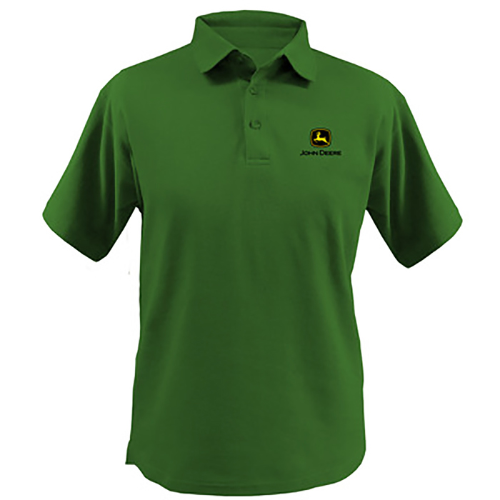 John Deere Men's Green Polo Shirt With Logo