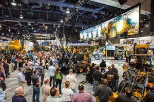 John Deere's booth will sprawl across more than 38,000 square feet, where 38 machines and 11 simulators will be on display.