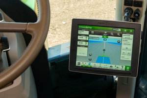 The new John Deere displays are designed to offer tractor operators improved data collection and functionality.