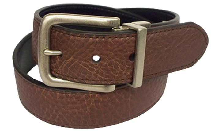Black and Brown John Deere Belt