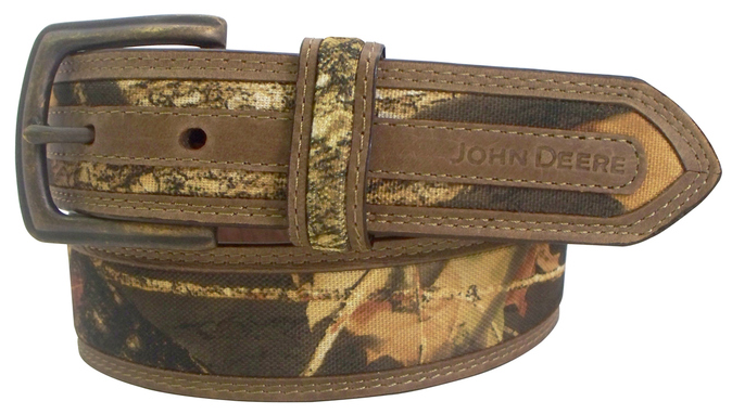 Camo and Leather John Deere Belt