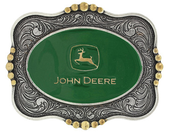 John Deere Scalloped Belt Buckle