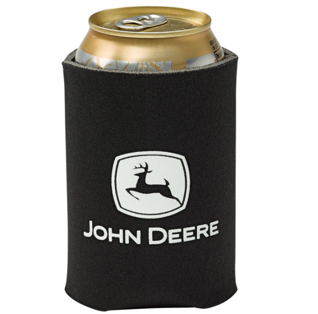 John Deere Black Pocket Can Holder
