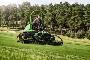 A fairway mower was the first piece of equipment produced by Deere at the Fuquay-Varina facility 20 years ago.
