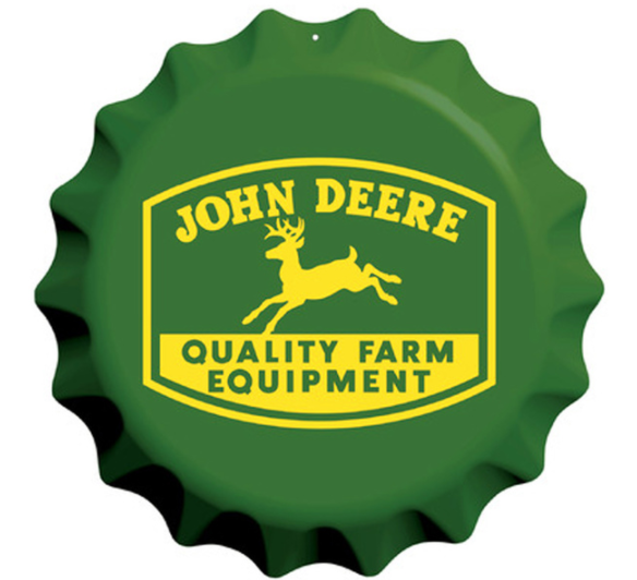 Bottle Cap Embossed Sign