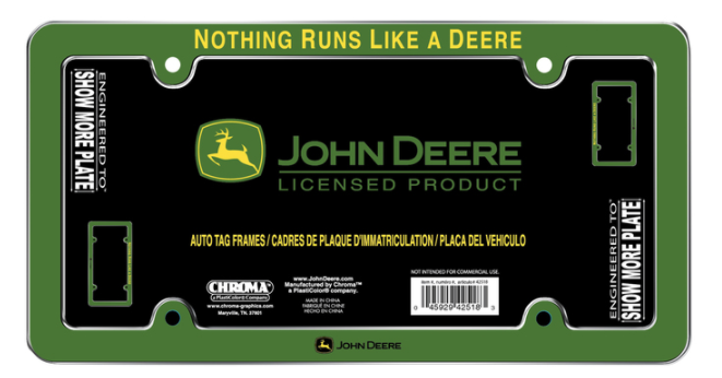 John Deere License Plate Frame