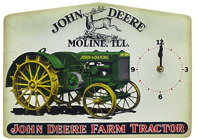 Farm Tractor Tin Clock