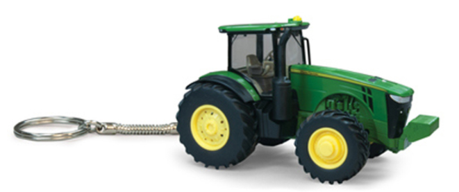 John Deere Die Cast Tractor Key Chain