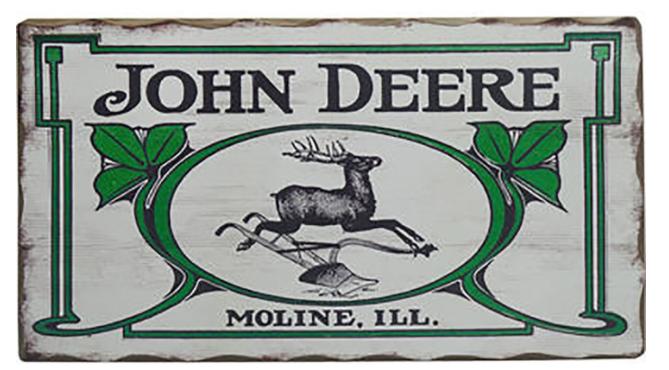 Vintage John Deere Logo Sign