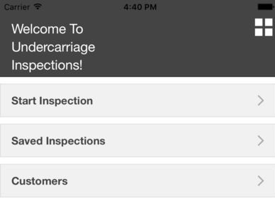 Undercarriage Inspection Welcome