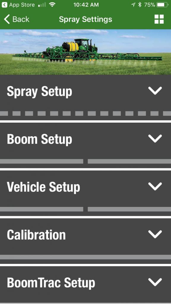 John Deere ApplyPlus Spray Settings
