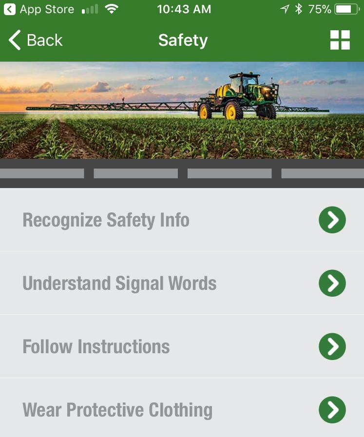 John Deere ApplyPlus Safety