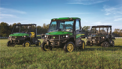 John Deere will be exhibiting several of their Gator utility vehicles at the Great American Outdoor Show.