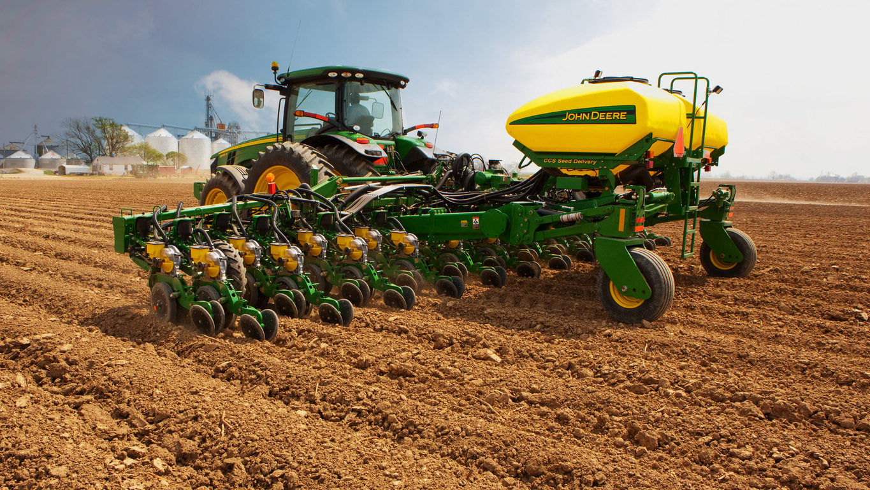 Biggest Seeder Of John Deere: Preparing For The Planting Of Spring Crops With John Deere