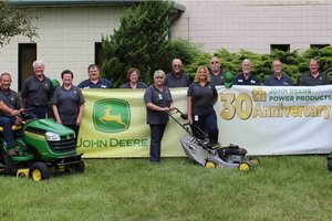 Fourteen current John Deere Power Products employees have been working at the facility since its doors opened in 1988.