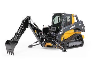 The backhoe attachments offer swing speed control and 180-degree capabilities to help maximize efficiency while improving stability in tight areas.