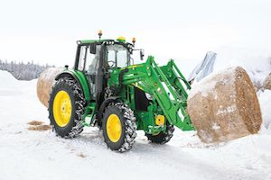 Deere has updated the cab comforts for all 6M tractors, providing more visibility of machine functions.
