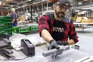 Deere will start off producing 25,000 face shields and plan to create an additional 200,000 to meet the immediate needs of healthcare workers in local communities.