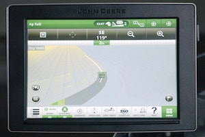 When using AutoPath, guidance lines are automatically created from a map of crop row lines for each field.