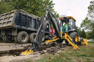 Deere has continued to improve upon its backhoe lineup since the 50-horsepower JD310 was introduced.
