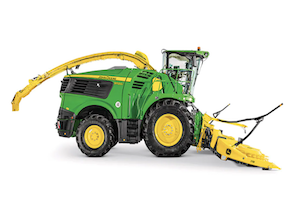 The model year 2022 9500 and 9600 machines will offer improved crop flow and operator visibility, as well as enhanced control during unloading.